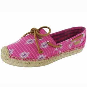 Sperry Katama Espadrilles Slip on Boat Shoes Flats